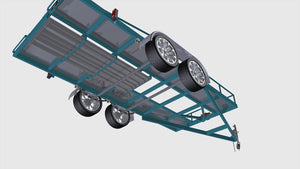 underside view car trailer render fabplans blueprints plans