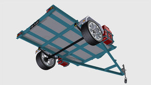 motorbike trailer plans showing axle assembly