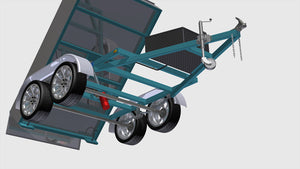 tipper trailer plans front right underside isometric