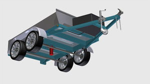 tipper trailer plans showing hydraulic