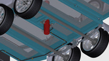 Load image into Gallery viewer, close up of hydraulic ram tipper trailer plans