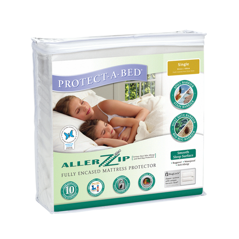 Allerzip Smooth Fully Encased Mattress Protector - Single