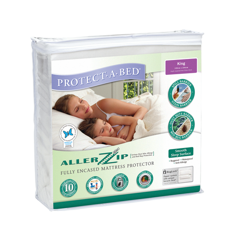 Protect A Bed Allerzip Smooth Fully Encased Mattress Protector