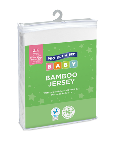 Bamboo Jersey Fitted Cot Mattress Protectors