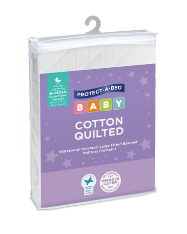 Cotton Quilted Fitted Bassinett Mattress Protectors