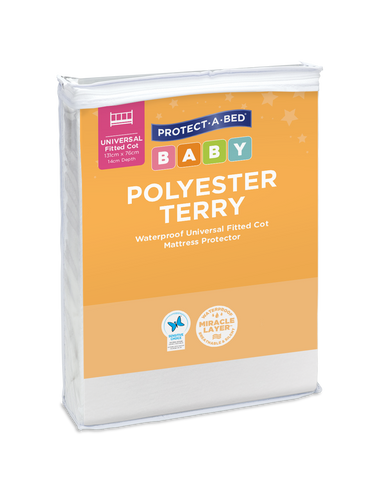 Polyester Terry Fitted Cot Mattress Protectors