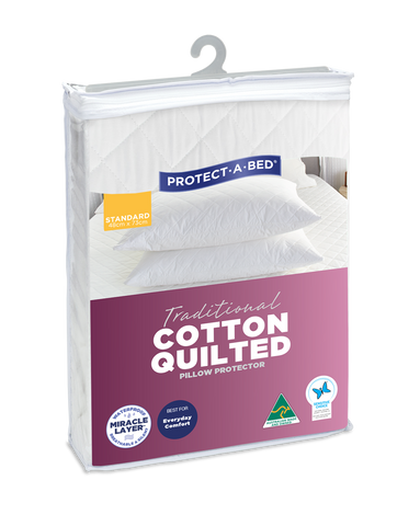 Traditional Cotton Quilted Fitted Waterproof Pillow Protectors