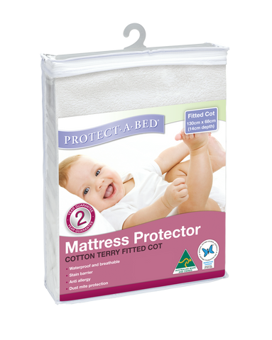 Fitted Cot Protector - Terry (130cm x 68cm)