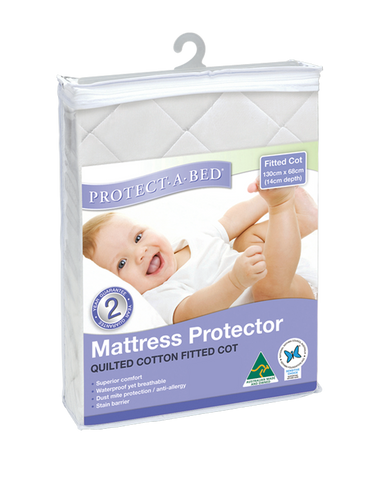 Fitted Cot Protector - Quilted (130cm x 68cm)