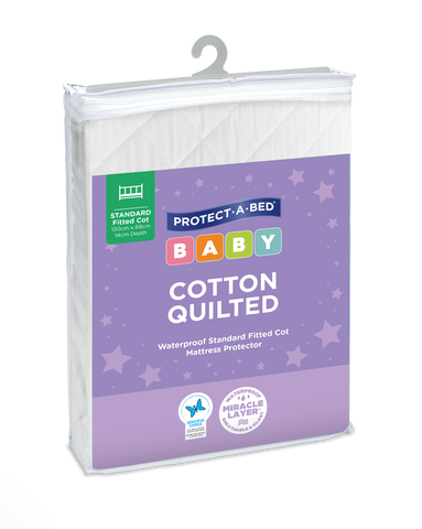Cotton Quilted Fitted Cot Mattress Protectors