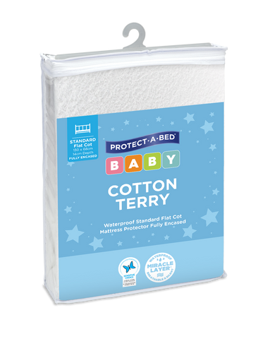 Fully Encased Cotton Terry Cot Mattress Protector