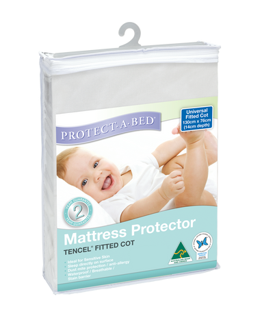 Universal Fitted Cot Protector - Tencel® (130cm x 76cm)