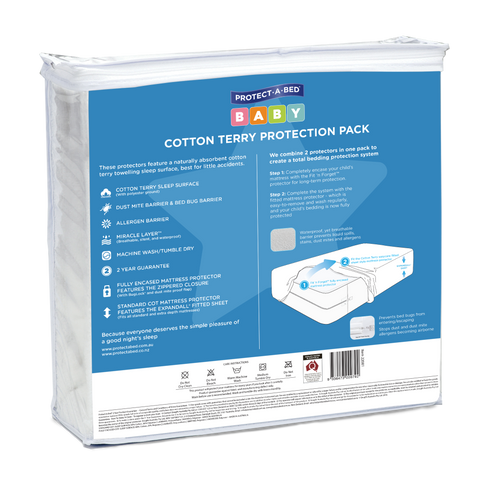 Cot Protection Pack - Cotton Terry