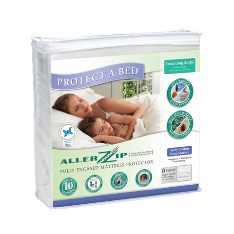 Allerzip Terry Fully Encased Mattress Protector - Extra Long Single