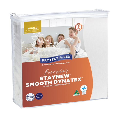 Staynew Smooth Dynatex Fitted Waterproof Mattress Protector