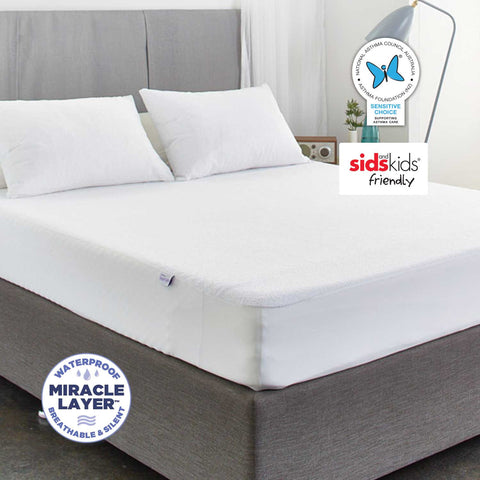 Allerzip Terry Fully Encased Mattress Protector - Double