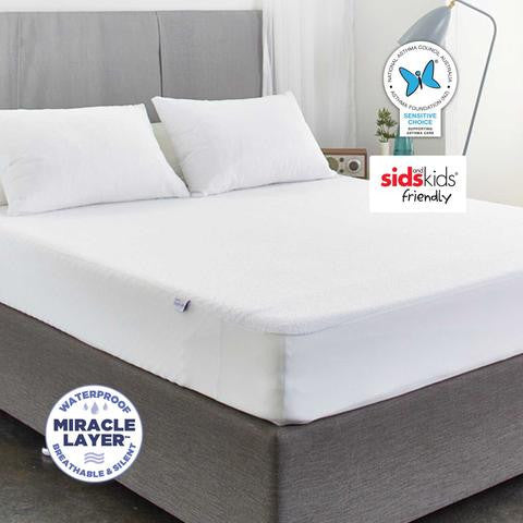 Allerzip Terry Fully Encased Mattress Protector - King Single