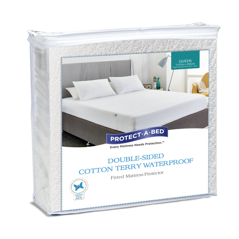 Double-Sided Terry Mattress Protector - Protect-A-Bed