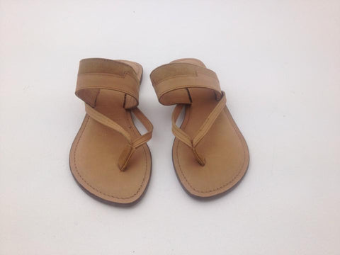 NATURAL LEATHER V SANDAL