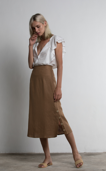 WINDSOR SKIRT BROWN