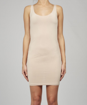 NUDE BASIC SLIP DRESS