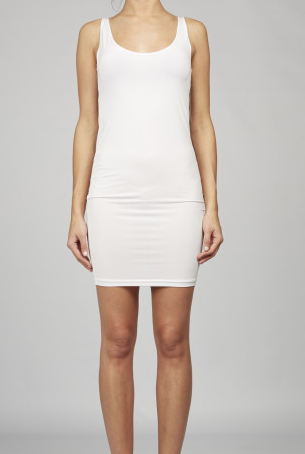 WHITE BASIC SLIP DRESS