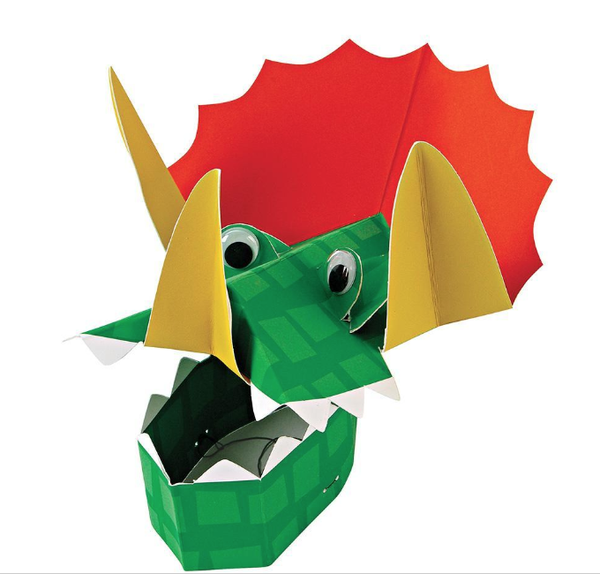 DINOSAUR PARTY HATS - 8 SET