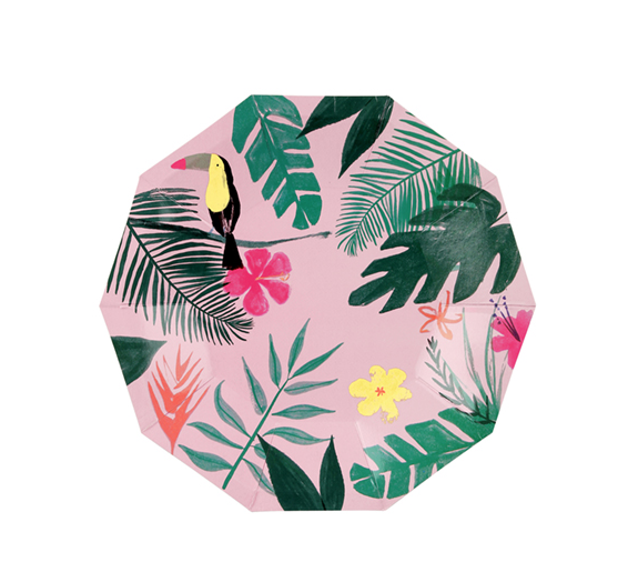 TROPICAL PLATE SMALL PINK