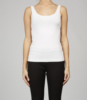 WHITE BASIC SLIP CAMI