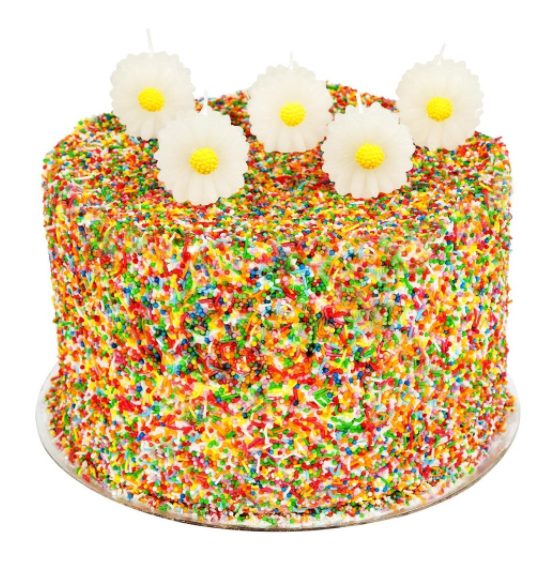 DAISY CAKE CANDLE SET 5