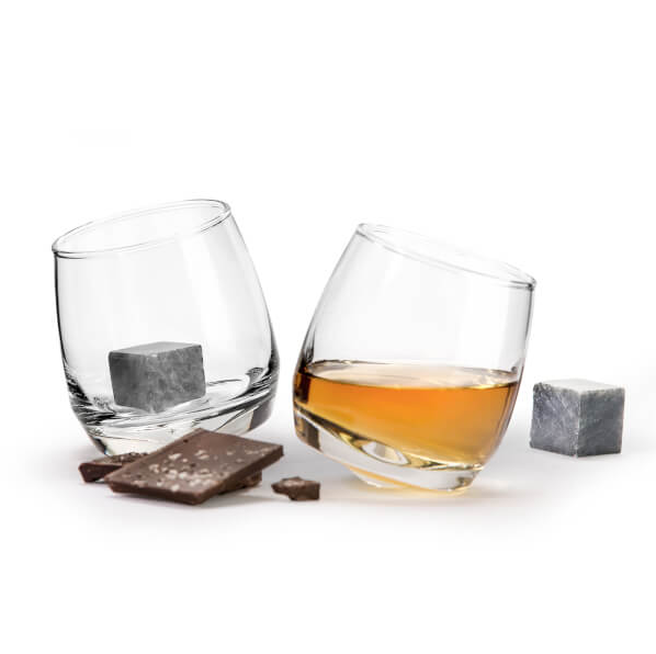 GIFT SET WHISKEY GLASS AND STONES