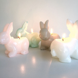 RABBIT CANDLE - ASSORTED COLOURS
