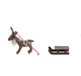 ENCHANTING MINI WOODEN SLEIGH H3CM