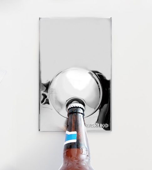 SUCK UK FRIDGE MAGNET BOTTLE OPENER STAINLESS STEEL