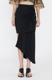 DARTFORD DRAPE SKIRT BLACK