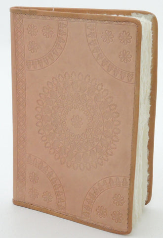EMBOSSED RECTANGLE LEATHER NOTEBOOK