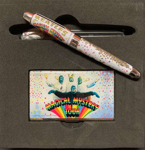 The Magical Mystery Tour Beatles pen & business card holder