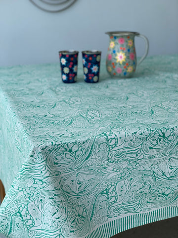 150 X 220 Tablecloth block print -  assorted colours & patterns