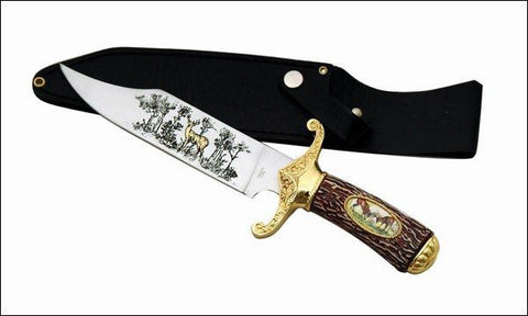 COLLECTOR 12 IN DEER BOWIE KNIFE