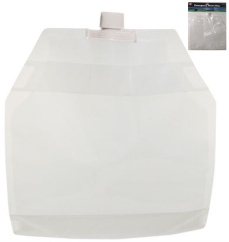 Water bag - emergency 5 liter bag
