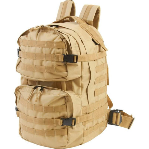 Backpack, Heavy-duty Army backpack - desert sand, water resistant