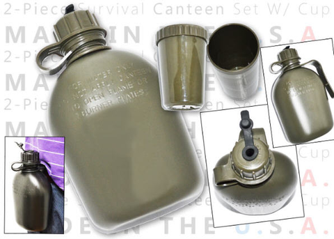 Canteen, Military Style - 1 quart