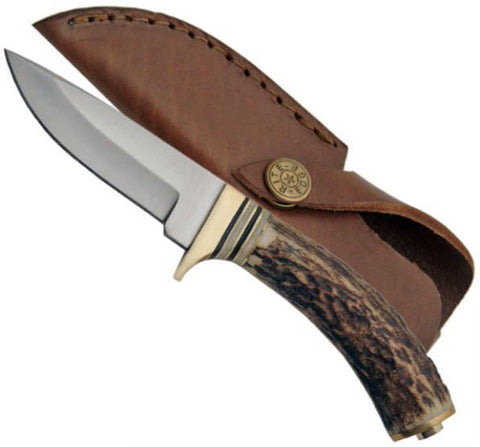REAL STAG HANDLE HUNTING KNIFE