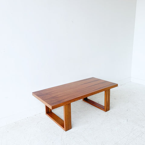 Mid Century Large Walnut Coffee Table