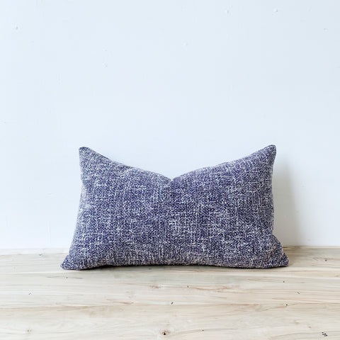 Purple Tweed Lumbar Pillow 14x24