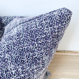 Purple Tweed Pillow 18x18