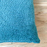 Turquoise Chenille Pillow 18x18