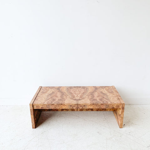 Vintage Burlwood Formica Coffee Table
