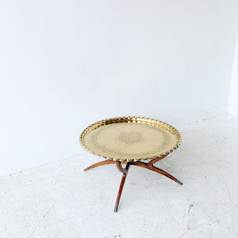 Vintage Brass Top Coffee Table
