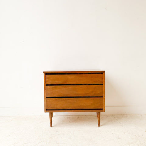 Mid Century Formica Top 3 Drawer Dresser